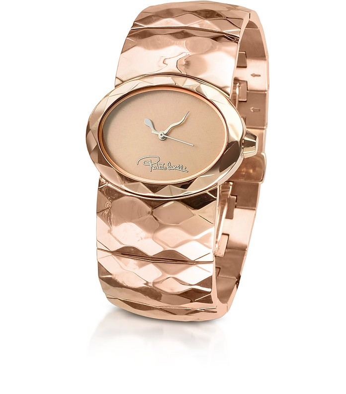 Multiface - Signature Rose Gold Plated Bracelet Watch - Roberto Cavalli