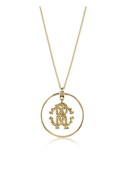 Rc Icon Long Necklace w/Charm - Roberto Cavalli