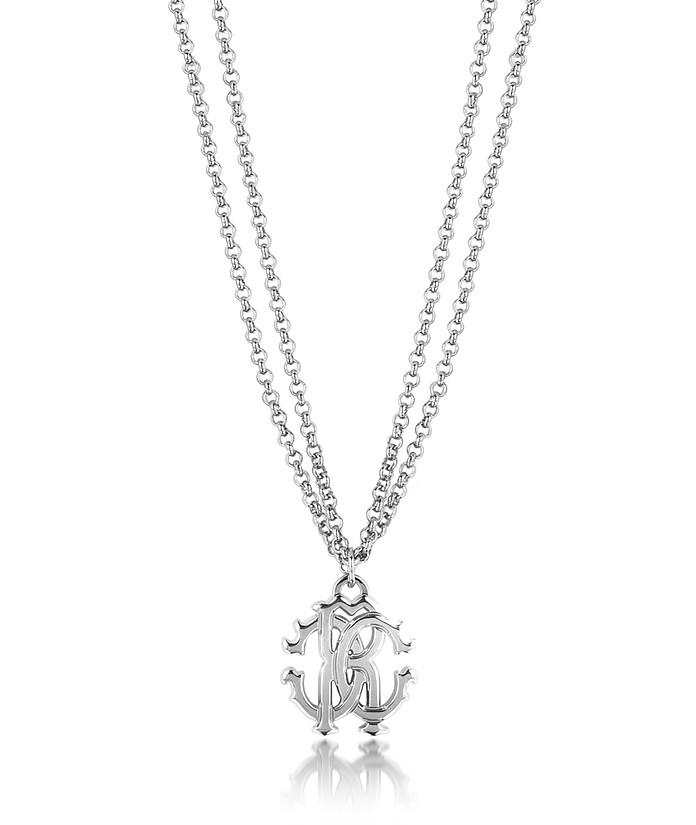 RC Icon Halskette mit doppelter Kette aus Metall - Roberto Cavalli