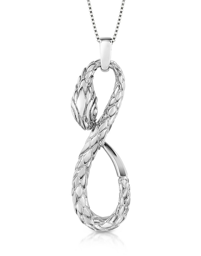 Groumette - Snake Pendant Necklace - Just Cavalli