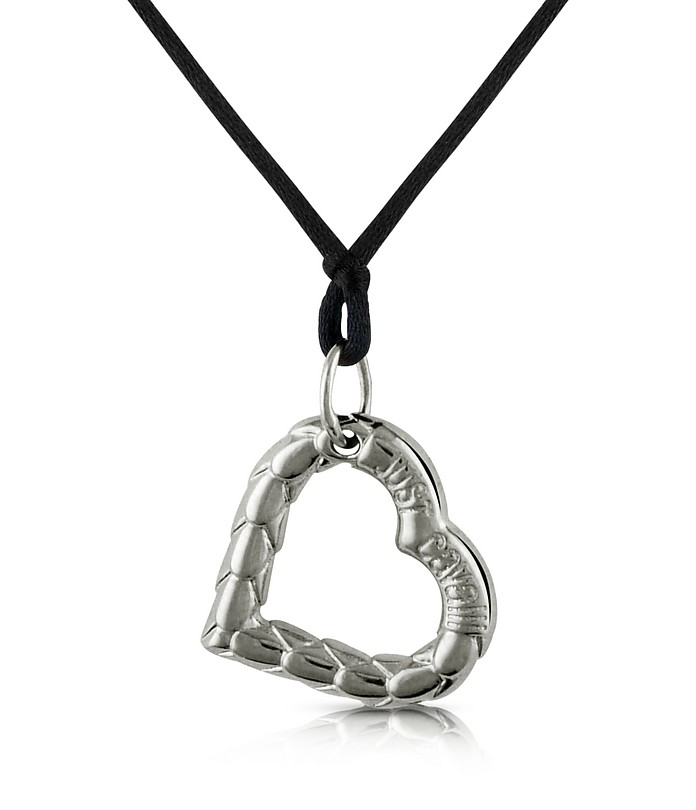 Snake - Heart Pendant w/Lace - Just Cavalli