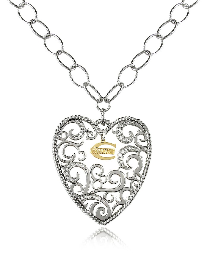 Deco' - Big Heart Pendant Chain Necklace - Just Cavalli