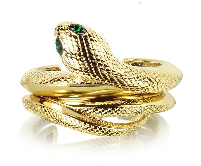 Goldtone Snake Bracelet  - Roberto Cavalli
