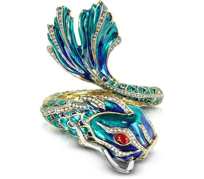 Carp Metal and Enamel Bangle Bracelet - Roberto Cavalli