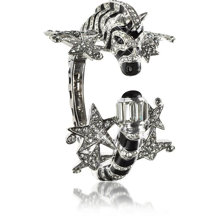 Zebra & Stars Bracelet w/Crystals - Roberto Cavalli