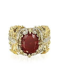 Renaissance Golden Metal Bracelet w/Stone