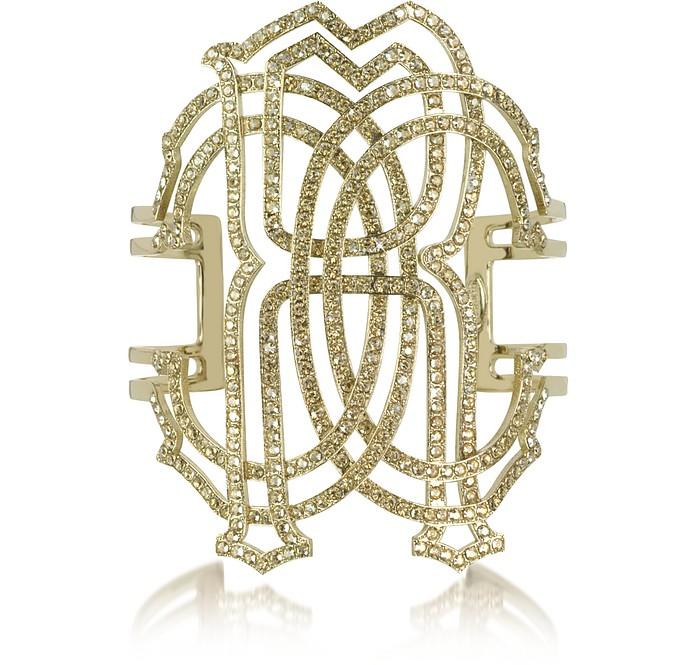 RC Icon Gold Tone Metal Bracelet - Roberto Cavalli