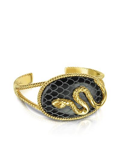 Amazonia Gold Plated Bangle Bracelet - Just Cavalli