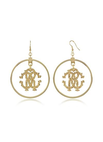 Rc Icon Hoop Earrings - Roberto Cavalli