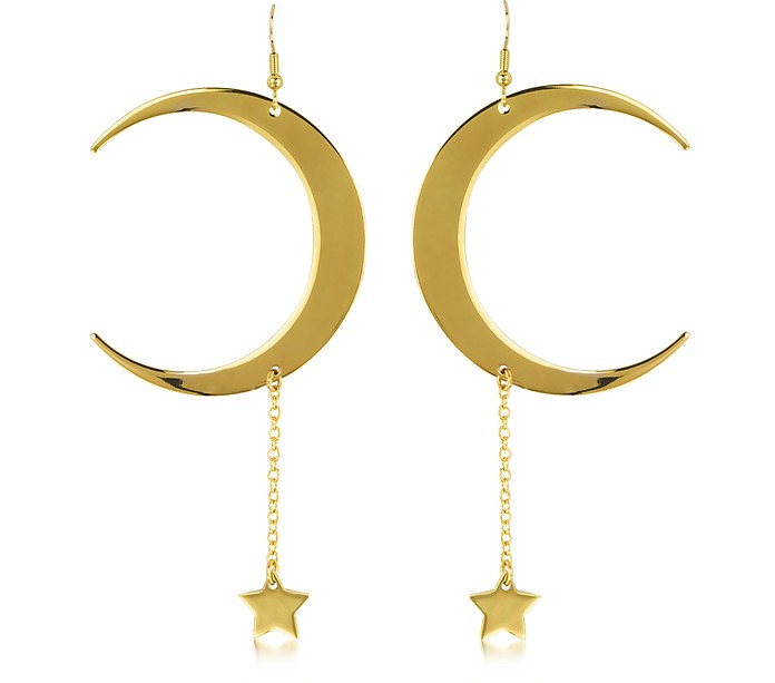 Lucky Light Gold Tone Earrings - Roberto Cavalli
