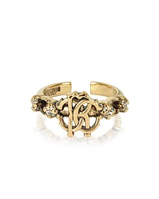 Brushed Goldtone RC Icon Ring - Roberto Cavalli
