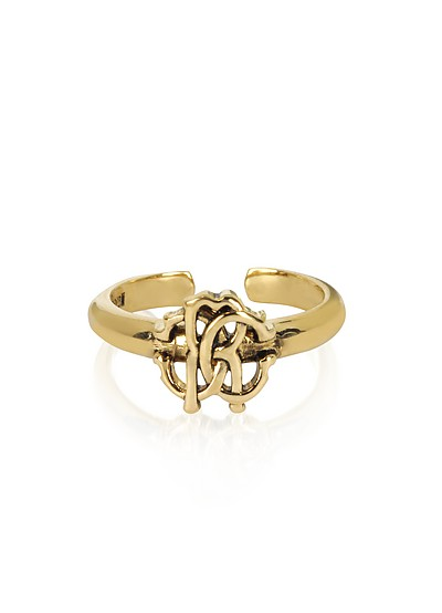 Polished Goldtone RC Icon Ring - Roberto Cavalli