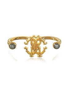 Goldtone Metal Two Fingers Ring - Roberto Cavalli / ロベルト カヴァリ