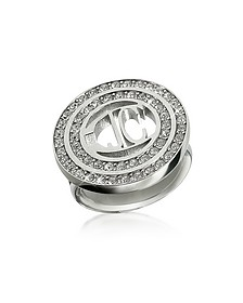 Rolly - Crystal Logo Ring - Just Cavalli