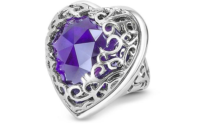 wholesale dealer 4b84b 3537f Deco' - Amethyst Crystal Heart Ring