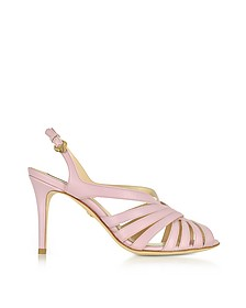 Mauve Leather Sandals - Roberto Cavalli