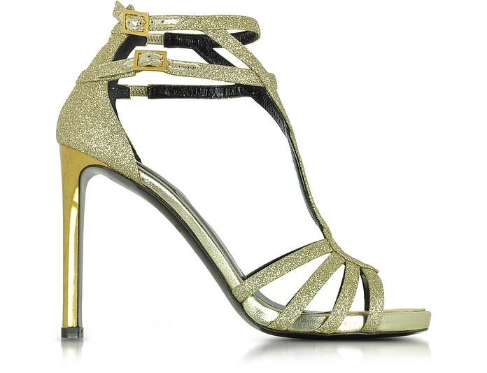 Laminated Python Sandals - Roberto Cavalli