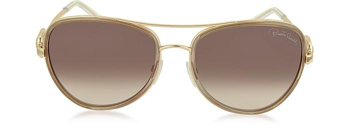 WEZEN 1013 Damen Sonnenbrille im Pilotenstyle aus Metall - Roberto Cavalli