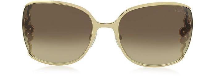 WASAT 1012 Sonnenbrille für Damen Oversized aus Metall  - Roberto Cavalli