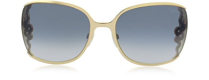 WASAT 1012 Metal Square Oversized Women's Sunglasses - Roberto Cavalli / ロベルト カヴァリ