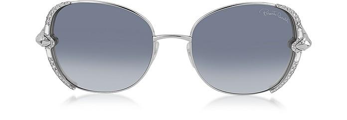 SUBRA 974S Metal Square Oversized Women's Sunglasses w/Crystals - Roberto Cavalli