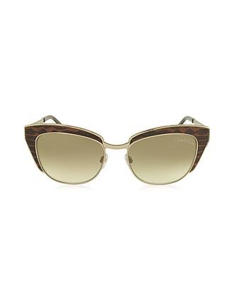a26785dd7e SUALOCIN 973S Gafas de Sol de Metal y Acetato Marrón - Roberto Cavalli