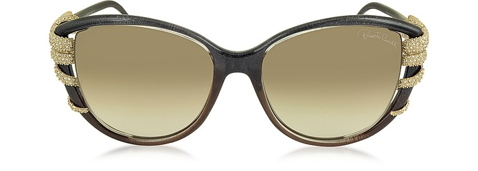 STEROPE 972S Acetate and Crystals Cat Eye Women's Sunglasses - Roberto Cavalli / ロベルト カヴァリ