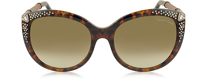 TANIA 979S Acetate and Crystals Women's Sunglasses - Roberto Cavalli