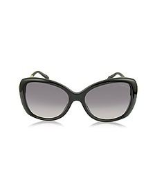 Mizar 917S-A Black Acetate Women's Sunglasses w/Crystals - Roberto Cavalli