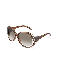 Oroya - Scrolled Metal Signature Round Frame Sunglasses - Roberto Cavalli