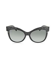 Women's Teti 740S 01B Black Sunglasses