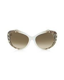 Temoe 727S 27F Transparent Turtledove Brown Snake Print/Mauve Sunglasses