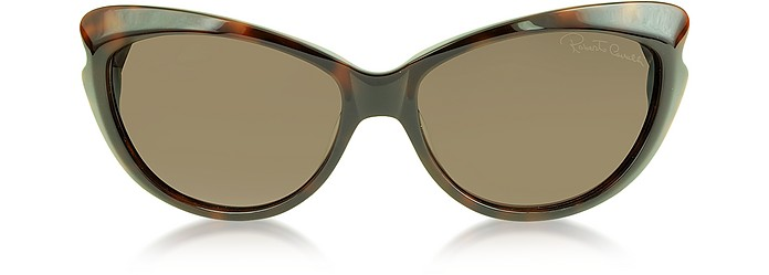 Bandos 731S 52F Dark Havana Brown Leopard Women's Sunglasse - Roberto Cavalli