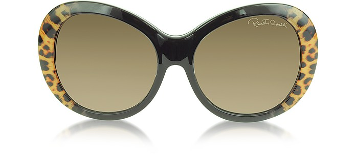 154456bf00 Full Moon 734S 05G Brown Leopard and Black Women s Sunglasses - Roberto  Cavalli