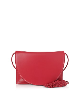 75b5d22a57403 Magenta Red Nappa Leather Shoulder Bag - Rodo