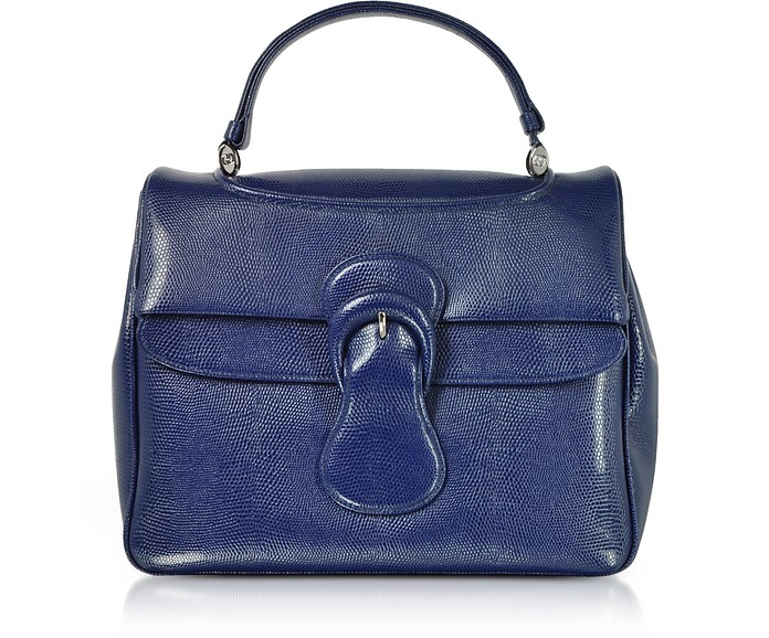 Lizard Embossed Leather Satchel Bag - Rodo / ロド