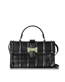 Black Nappa Leather Lunch Bag - Rodo
