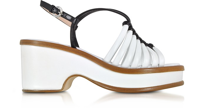 RODO Designer Shoes, and Braided Leather Wedge Sandals