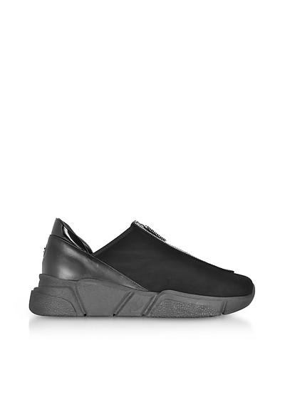 Sneakers aus Wildleder in schwarz mit Zipper - Rodo