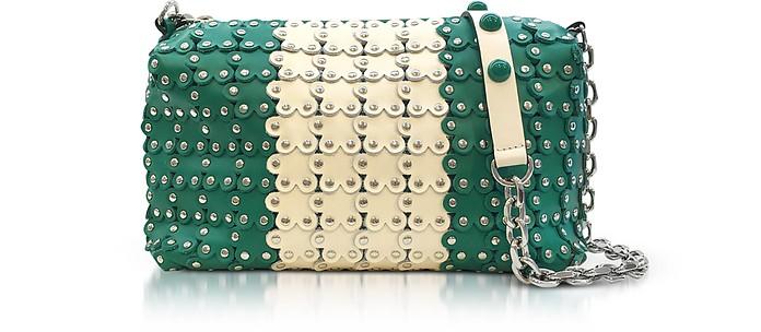 Mint Green/Ivory Studded Leather Shoulder Bag - RED Valentino