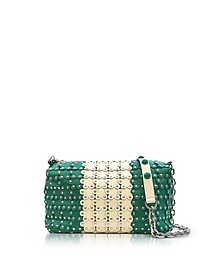 Mint Green/Ivory Studded Leather Shoulder Bag - RED Valentino