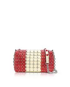 Strawberry/Ivory Studded Leather Shoulder Bag - RED Valentino