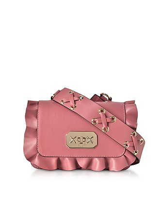 b54529c651 Pink Leather Ruffle Small Shoulder Bag - RED Valentino