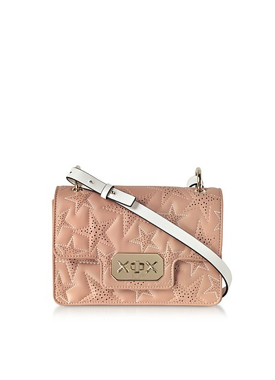 Quilted Stars Two-tone Leather Shoulder Bag - RED Valentino