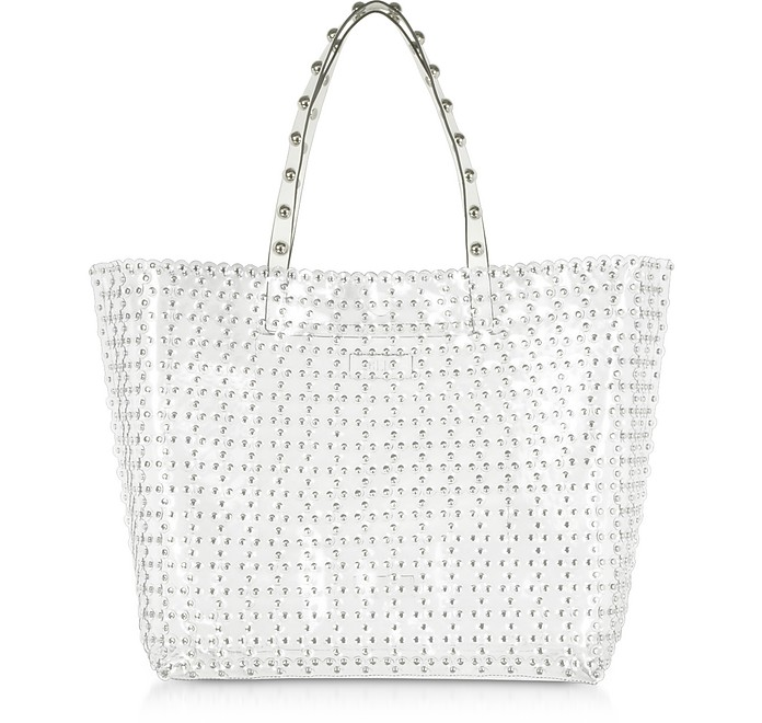 Flower Puzzle Transparent Tote Bag - RED Valentino