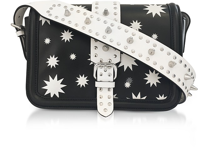 Black and White Star Printed Crossbody Bag - RED Valentino