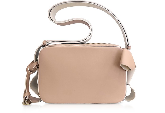XL Bow Two-Tone Leather Camera Bag - RED Valentino