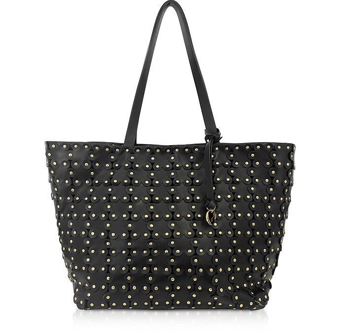Flower Puzzle Leather Tote Bag - RED Valentino