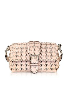 Flower Puzzle Leather Shoulder Bag - RED Valentino