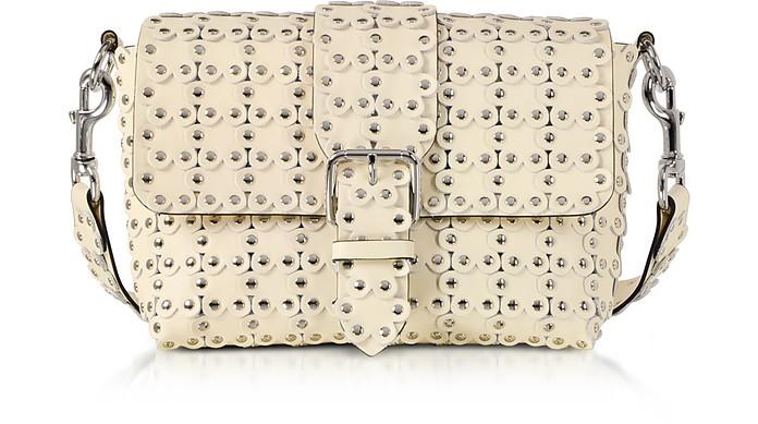 Flower Puzzle Leather Shoulder Bag - RED Valentino